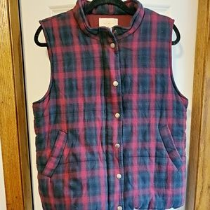 Skies are Blue plaid vest sz xxl